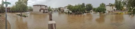 FLOODING: Panorama of moonsoon flood in Phoenix, AZ
