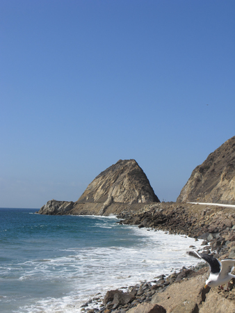 California Pacific Coast Highway One, Point Mugu, Ventura County, California photo