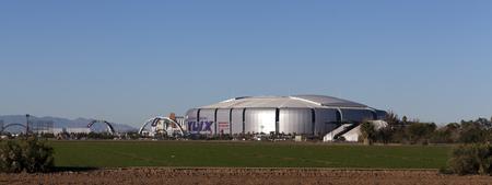 seahawks: GLENDALE, AZ - 24 de enero de 2015: Una semana de preparación en la Universidad de Phoenix Cardinal Stadium, donde los New England Patriots juegan Seattle Seahawks en el Super Bowl 49 en 01 de febrero 2015 Editorial