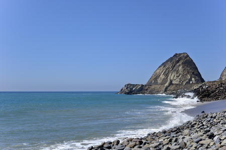 thornhill: Breezy waves at Thornhill beach near Point Mugu, Ventura, CA