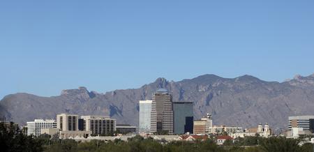 tucson: Cityscape of Tucson downtown and Santa Catalina mountain range, Arizona