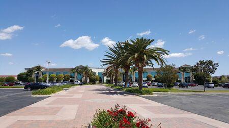 hitech: CAMARILLO, CA - APRIL 8, 2015: Private road leading to Hi-Tech company corporate headquarter office in Camarillo, California