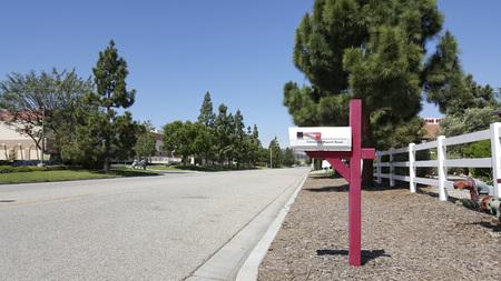 pinetree: Brightly sunny day in Southern California city of Camarillo, Ventura county
