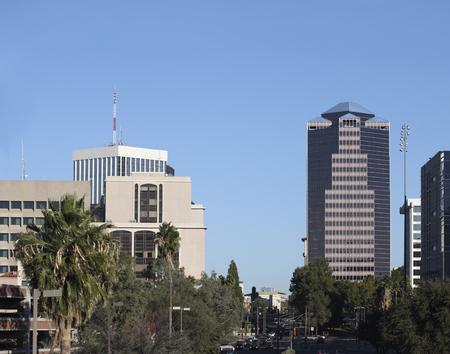 tucson: Downtown of Tucson at Congress Avenue, Arizona Stock Photo