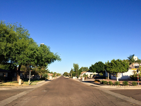 monte cristo: Pedestrian-free West Monte Cristo and North 37th Ave intersection  in residential area on Phoenix, AZ