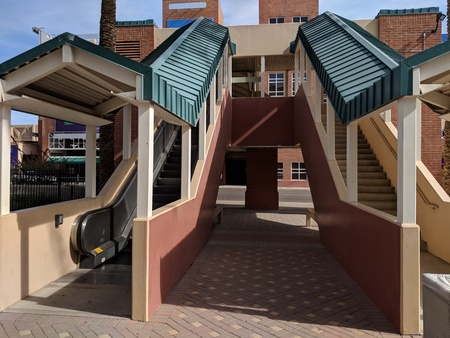 City convenient access portal to facilities above ground level in Phoenix downtown, Arizona