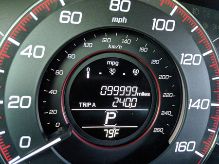 1 Mile before car odometer turns to 100,000 miles
