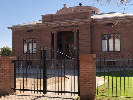 PHOENIX, AZ, USA - DECEMBER 15, 2017: Historic building of Carnegie Public Library built in 1908 on Washington Street in Phoenix downtown, Arizona