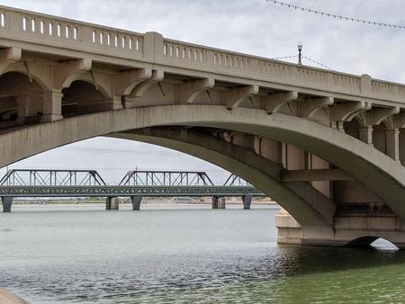 Mill avenue bridge across Salt River Lake in Tempe,AZ