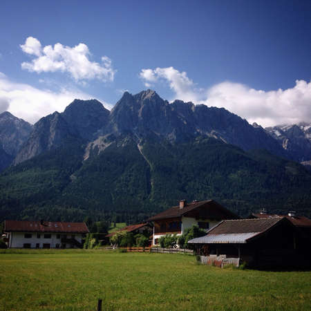 zugspitze mountain: Mountain landscape. The highest point in Germany. Zugspitze, Alps
