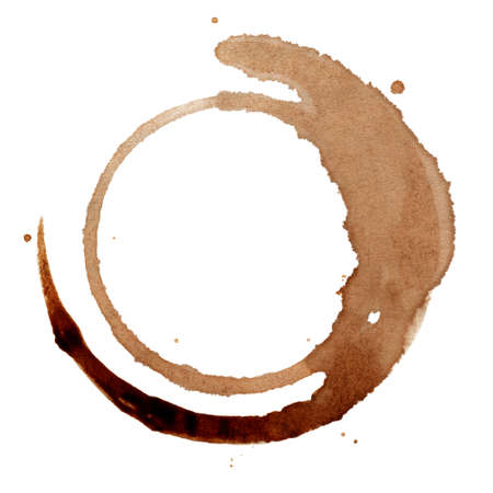 coffee stain: Isolated coffee stain Stock Photo