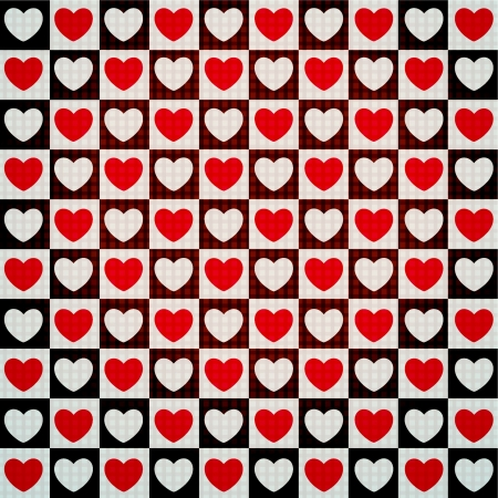 wrapping paper: valentine seamless hearts pattern