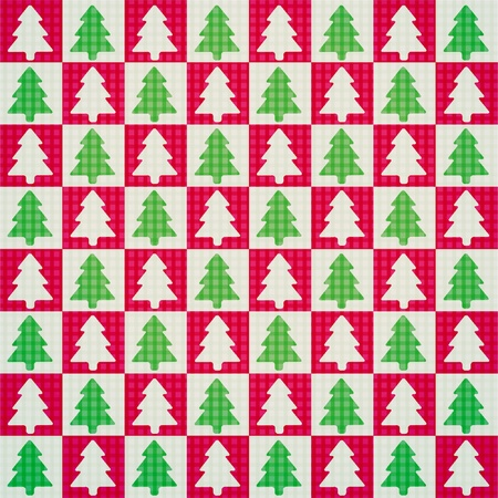 vector seamless pattern of christmas tree Vector