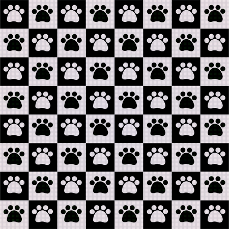 Dog s Footprints-Seamless Pattern  Vector