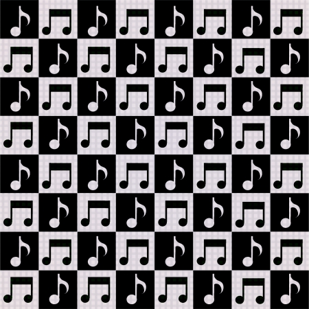 Seamless background with music notes. Vector
