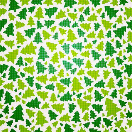 xmas tree: vector seamless pattern of christmas tree