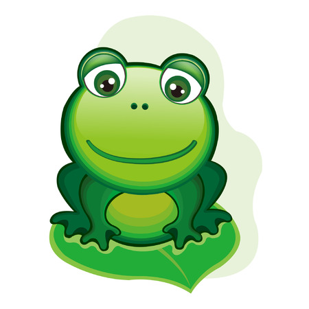 leapfrog: vector illustration of happy frog