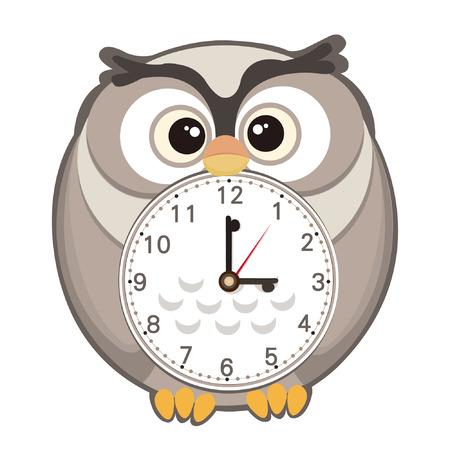 cute cartoon clock Vector