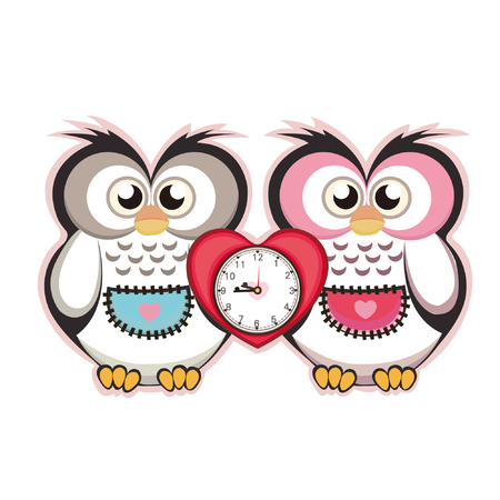 cute cartoon clock Vector
