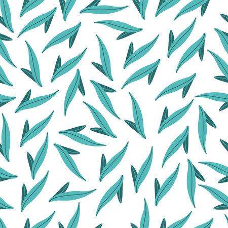 Stylish seamless leaf pattern.
