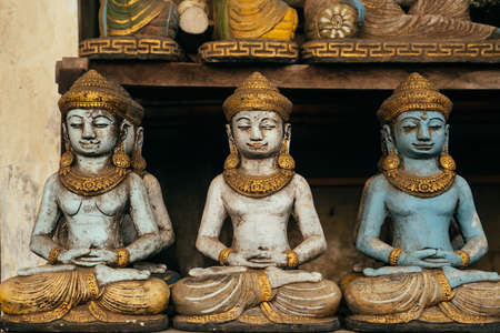 Balinese souvenir shop selling selling Buddha statues and handicrafts of Bali and Ubud, Indonesia