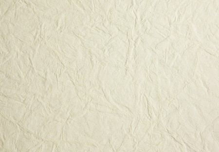 Background of creamy white wrinkled rice paper Stock Photo