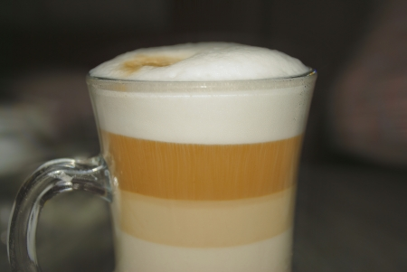 Cup of coffee latte photo