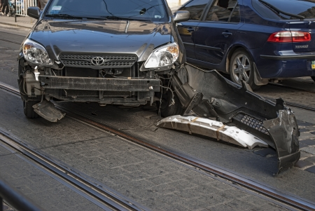 Damaged car after traffic accident Stock Photo - 23106184