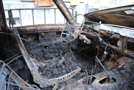 burnt out: burnt out the car