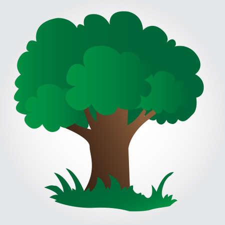 Illustration of a tree on grey background 일러스트