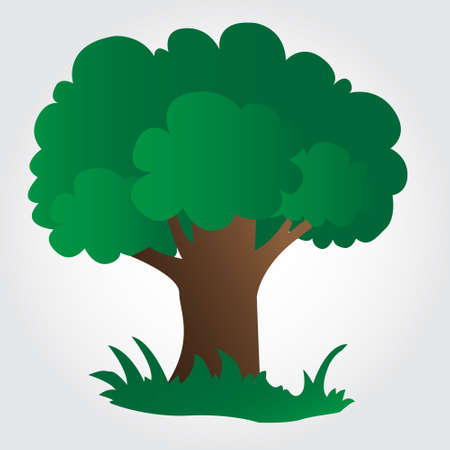 Illustration of a tree on grey background Vectores