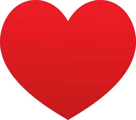 Illustration heart on white background