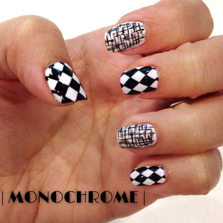 black: Monochrome Styled Nails