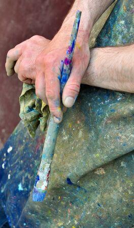 Hands of an artist photo