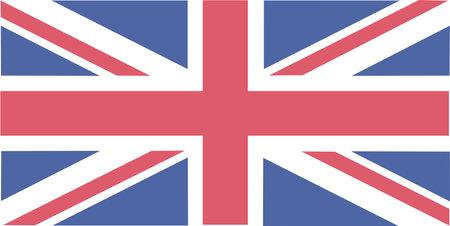 Flat Design of the Flag of United Kingdom.
