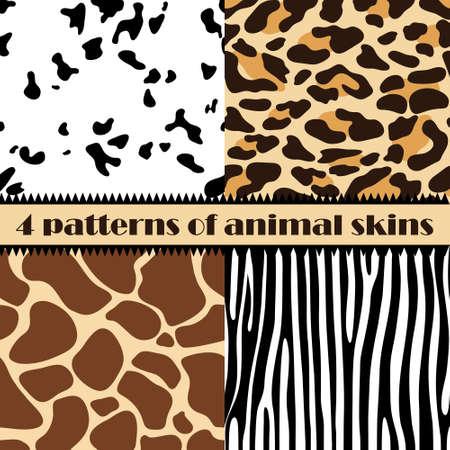 Skin of animals seamless pattern, pattern. Vector illustration