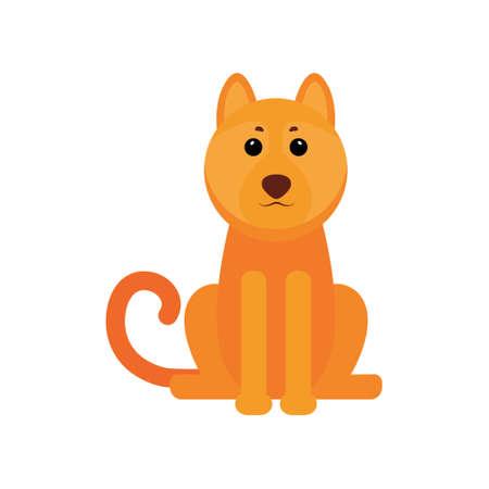 Yellow dog - Chinese zodiac symbol of the New Year 2018.