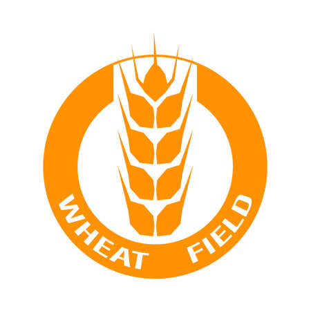 Wheat icon on white background. Vector illustration. Suitable for labels.