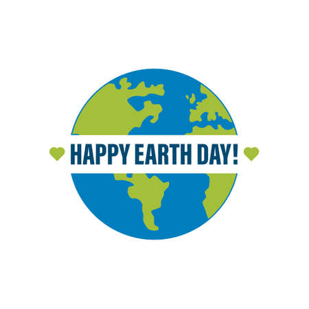 Happy Earth Day Banner Illustration of a happy earth day banner, for environment safety celebration