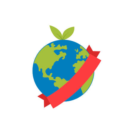 Flat planet Earth icon. Vector illustration for web banner, web and mobile, infographics. Çizim