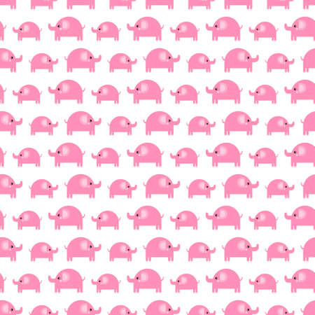 Pattern of beautiful elephants. Pattern Background with elephants. Childrens drawing. Background of cute elephants Çizim