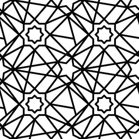 Eastern pattern. Vector pattern on white isolated background 矢量图像