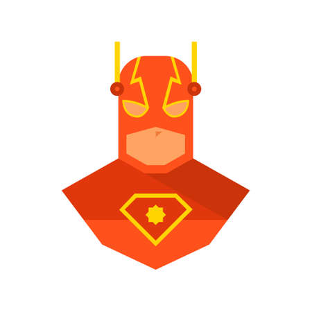 Superhero logo template. Red, yellow and orange. Vector, isolated Ilustrace