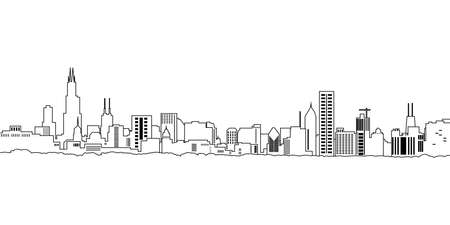 City landscape, icon, vector illustration isolated on white background.