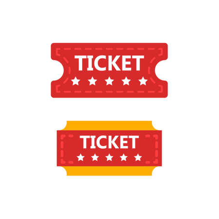 Old vintage paper circus ticket. Vector illustration.