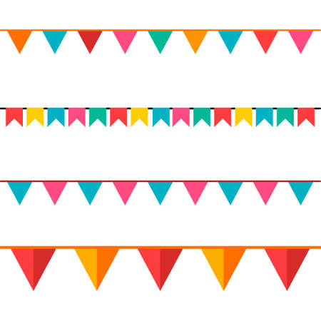 Party Background with Flags Vector Illustration. EPS 10.