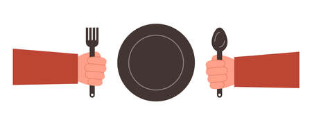 Plate spoon and fork icon. Fork, spoon and Plate symbol. Elements for design.
