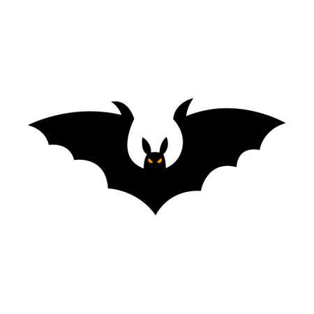 Bat silhouette - Halloween vector illustration isolated on white background.