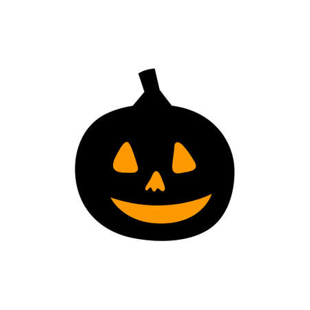 Halloween pumpkin icon on a white background. Vector illustration.
