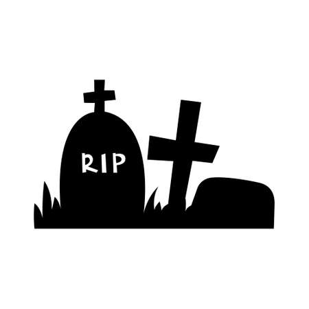 Grave icon on white isolated background. Vector illustration. 向量圖像